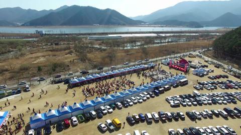 Wondong Maehwa Festival, Yangsan, South Korea, Asia Footage