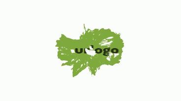 Cartoon Liquid Logo Reveal stock footage