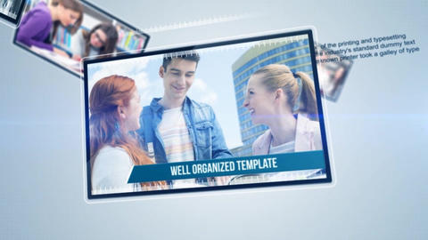 Corporate Float Presentation After Effects Template