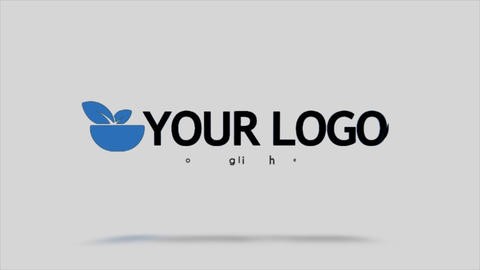 Data Clean Slice Logo After Effects Template
