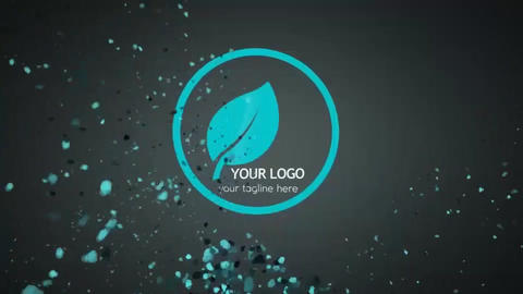 Hurried Particle Flow Logo After Effects Template