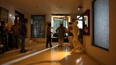 Luxurious interior decoration Footage