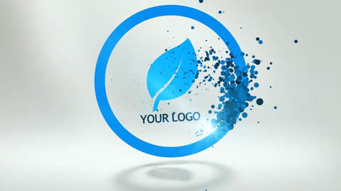 Stylize Grain Particle Logo After Effects Template