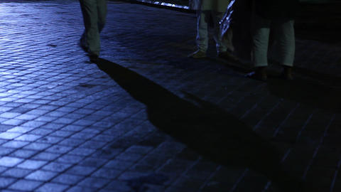 People shadows on the ground Footage