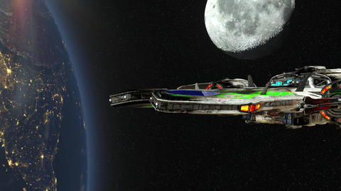 Space ship CG動画