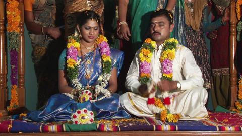 Hindu marriage ceremony, playing Live Action