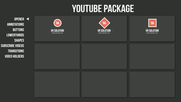 Youtube Package After Effects Template