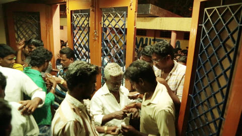 Ticket checking before entering for movie theater in India Live Action