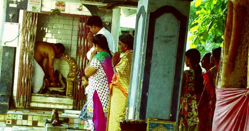 Hindu temple, Hindu devotees. tourist peoples Footage