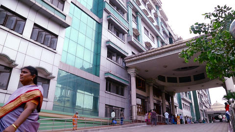 Exterior shot - Government General Hospital in Chennai, india Live Action