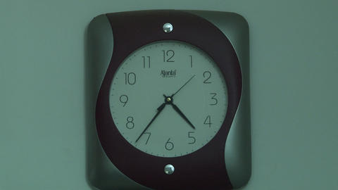 Close up household wall clock Footage