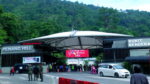 Penang Hill funichillular ride entrance in Penang Live Action