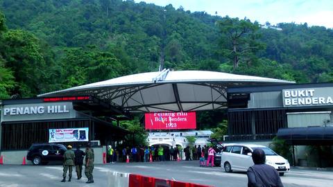 Penang Hill funichillular ride entrance in Penang, Live Action