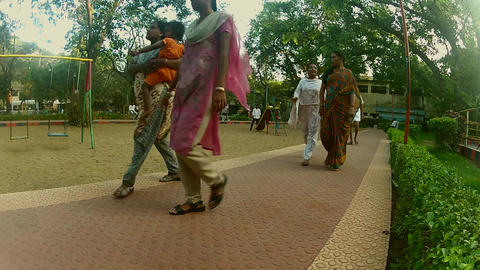 peoples running for exercise in the morning, peoples walking on park Footage