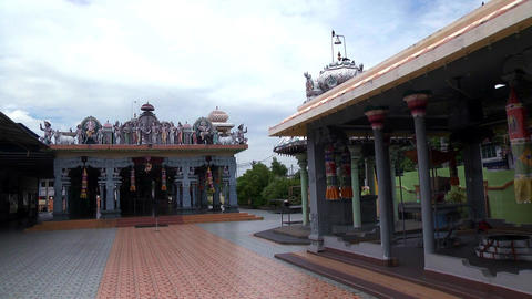 Traditional Hindu temple in Malaysia Live Action