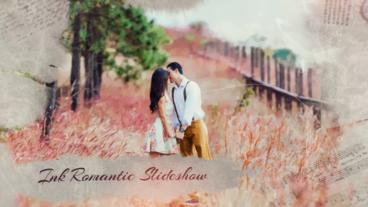 Ink Slideshow Romantic After Effects Template