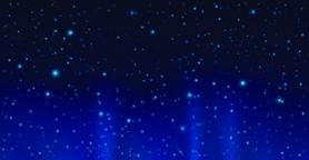 Dark sky with shining stars. Vector night sky background Vector
