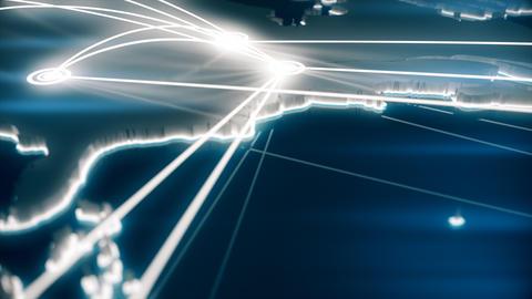 Flight paths North America Footage