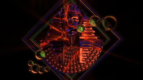 Cracked Pharaoh Bust VJ Loop Animation