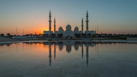 Sheikh Zayed Grand Mosque, Abu Dhabi (time-lapse) Footage