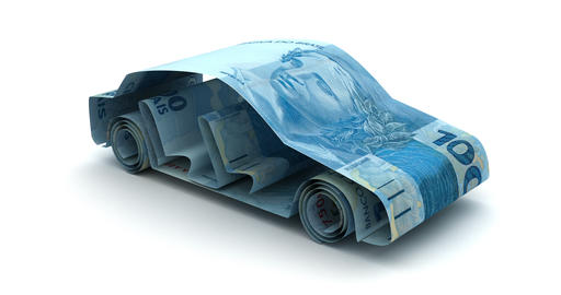 Car Finance with Brazilian Real Animation