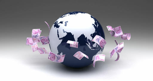 Global Business with Turkish Lira Animation