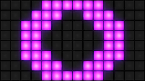 Pink Disco nightclub dance floor wall glowing light grid… Stock Video Footage