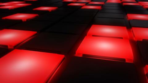Red Disco nightclub dance floor wall glowing light grid background vj loop CG動画素材