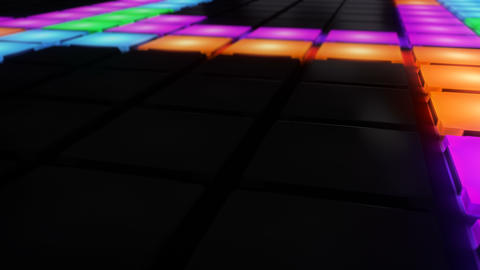 Colorful Disco nightclub dance floor wall glowing light... Stock Video Footage