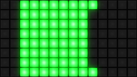 Green Disco nightclub dance floor wall glowing light grid…, Stock Animation