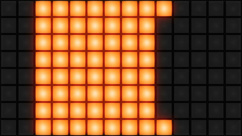 Orange Disco nightclub dance floor wall glowing light grid background vj loop Animation