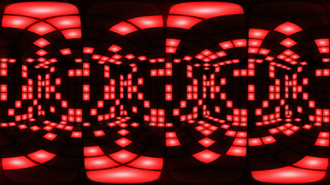 360 VR Red disco nightclub dance floor wall light grid background vj loop Animation