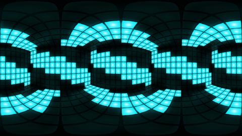 360 VR Blue disco nightclub dance floor wall light grid... Stock Video Footage