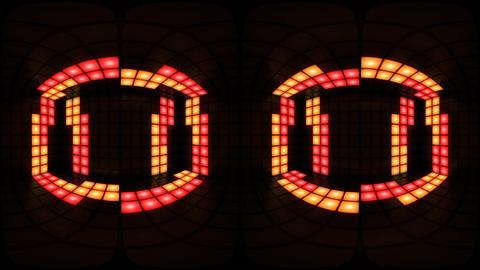 360 VR Colorful disco nightclub dance floor wall light… Stock Video Footage