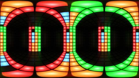 360 VR Colorful disco nightclub dance floor wall light... Stock Video Footage