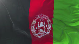Afghanistan Flag in Slow Motion Smooth blowing in wind seamless loop Background GIF