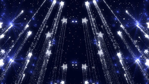 Wonderful Glitter Background Glow Stars Shimmering Particles Animation