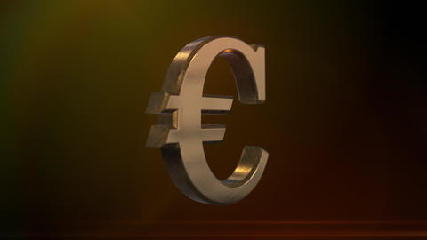 Spinning Euro Sign Animation
