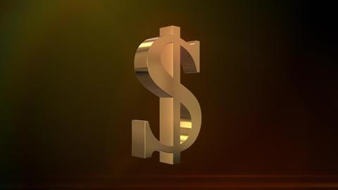 Shiny Spinning Dollar Sign Animation