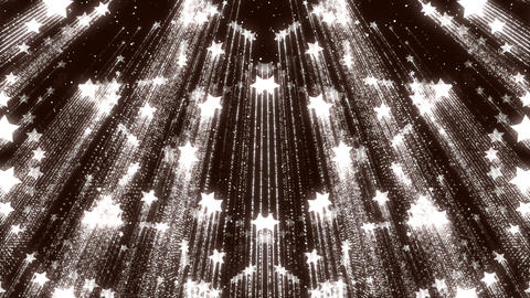 Wonderful Stars Shimmering Glitter Particles Glow Background Animation