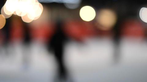 Blurred background ice rink night Archivo