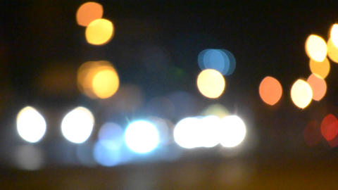 Blurred Background cars ride night background bokeh Footage