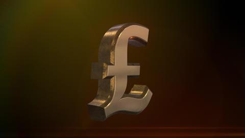 Spinning British Pound Sign Animation