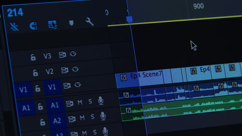 4K Video Editing on a Timeline Post Production 1 Live Action