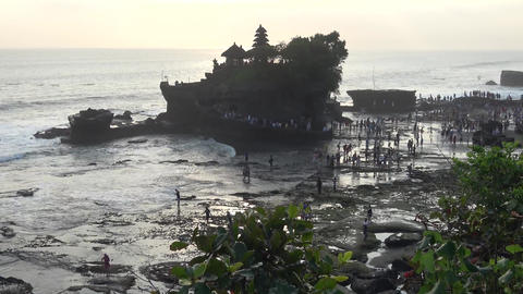 Tanah lot temple, Bali island Footage