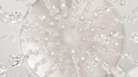 Falling shower water drops in 4K super slow motion Animation