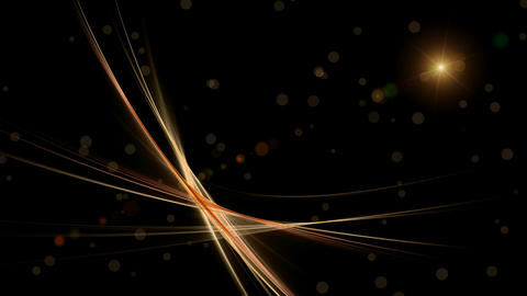 Festive abstract background with flare and golden dots of light Animación