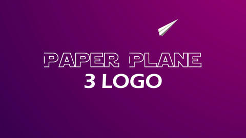 Paper_Plane_Logos After Effects Template