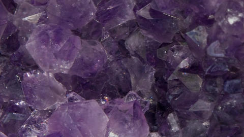 Vertical video. Druse amethyst, vertical panorama. Close-up Footage