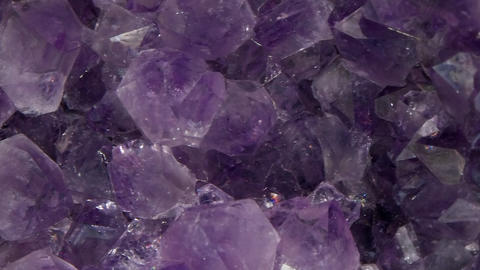 Vertical video. Amethyst, vertical panorama. In the light of the key Footage